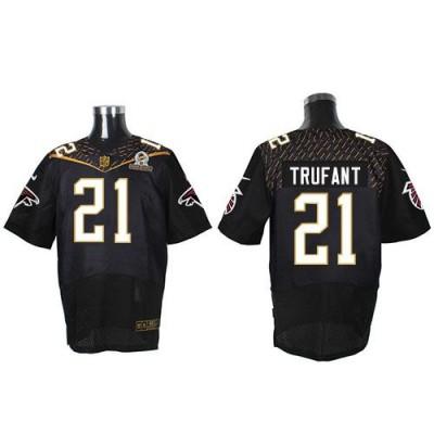 Nike Falcons 21 Desmond Trufant Black 2016 Pro Bowl Team Irvin Mens Stitched NFL Elite Jersey