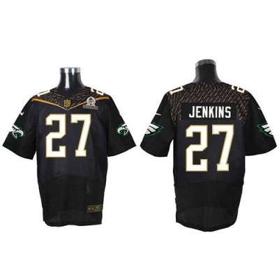 Nike Eagles 27 Malcolm Jenkins Black 2016 Pro Bowl Team Irvin Mens Stitched NFL Elite Jersey