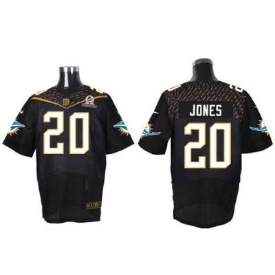 Nike Dolphins 20 Reshad Jones Black 2016 Pro Bowl Team Irvin Mens Stitched NFL Elite Jersey