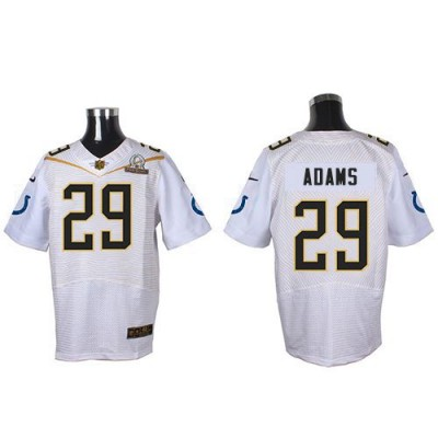 Nike Colts 29 Mike Adams White 2016 Pro Bowl Team Rice Mens Stitched NFL Elite Jersey