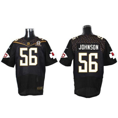 Nike Chiefs 56 Derrick Johnson Black 2016 Pro Bowl Team Irvin Mens Stitched NFL Elite Jersey