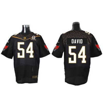 Nike Buccaneers 54 Lavonte David Black 2016 Pro Bowl Team Irvin Mens Stitched NFL Elite Jersey