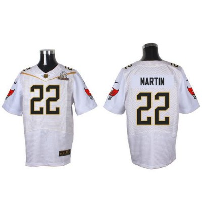 Nike Buccaneers 22 Doug Martin White 2016 Pro Bowl Team Rice Mens Stitched NFL Elite Jersey