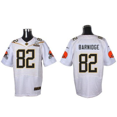 Nike Browns 82 Gary Barnidge White 2016 Pro Bowl Team Rice Mens Stitched NFL Elite Jersey