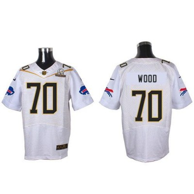 Nike Bills 70 Eric Wood White 2016 Pro Bowl Team Rice Mens Stitched NFL Elite Jersey
