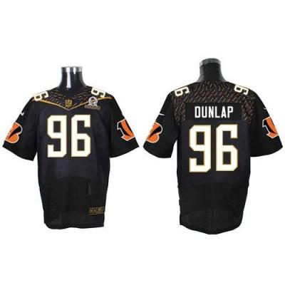 Nike Bengals 96 Carlos Dunlap Black 2016 Pro Bowl Team Irvin Mens Stitched NFL Elite Jersey