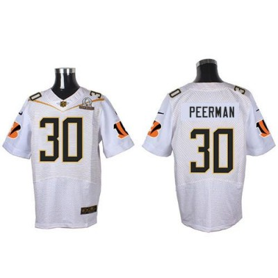 Nike Bengals 30 Cedric Peerman White 2016 Pro Bowl Team Rice Mens Stitched NFL Elite Jersey