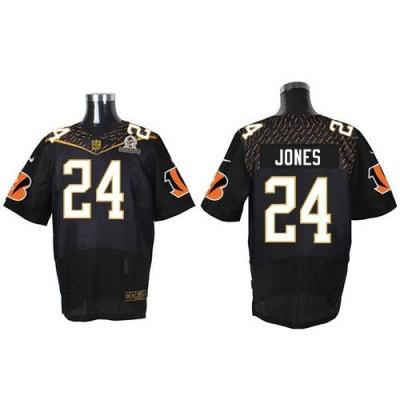 Nike Bengals 24 Adam Jones Black 2016 Pro Bowl Team Irvin Mens Stitched NFL Elite Jersey