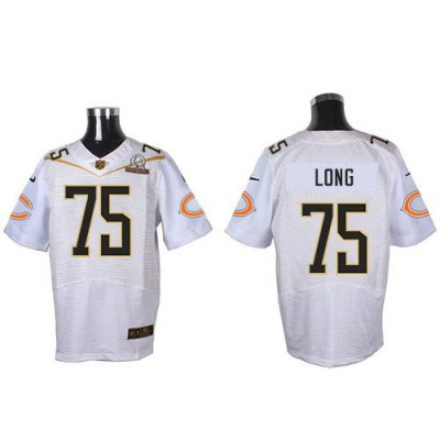 Nike Bears 75 Kyle Long White 2016 Pro Bowl Team Rice Mens Stitched NFL Elite Jersey