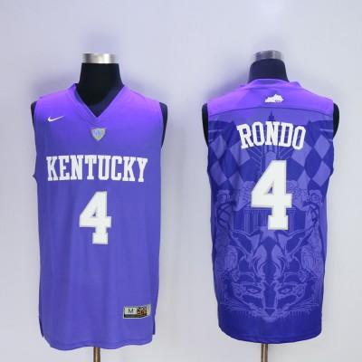 NCAA Kentucky Wildcats 4 Rajon Rondo Blue Basketball Men Jersey