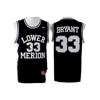 High School Lower Merion Aces 33 Kobe Bryant Black Men Jersey