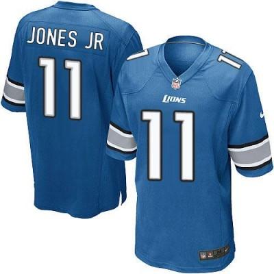 Nike Lions 11 Marvin Jones Jr Light Blue Team Color Youth Stitched NFL Elite Jersey