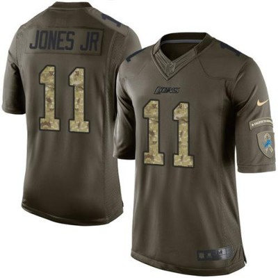 Nike Lions 11 Marvin Jones Jr Green Youth Stitched NFL Limited Salute to Service Jersey
