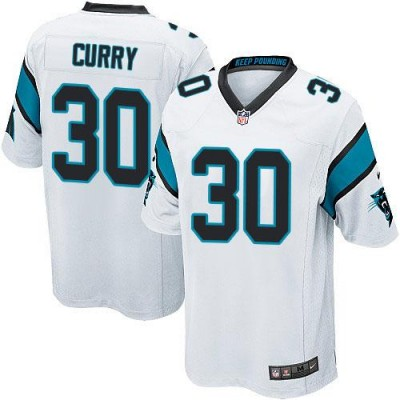 Nike Panthers 30 Stephen Curry White Youth Stitched NFL Elite Jersey