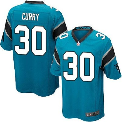 Nike Panthers 30 Stephen Curry Blue Alternate Youth Stitched NFL Elite Jersey
