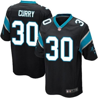 Nike Panthers 30 Stephen Curry Black Team Color Youth Stitched NFL Elite Jersey