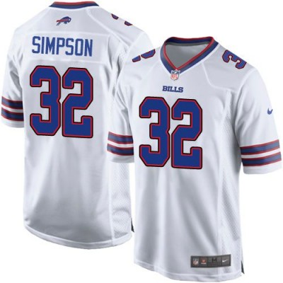 Nike Bills 32 O. J. Simpson White Youth Stitched NFL New Elite Jersey