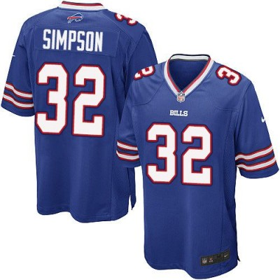 Nike Bills 32 O. J. Simpson Royal Blue Team Color Youth Stitched NFL New Elite Jersey