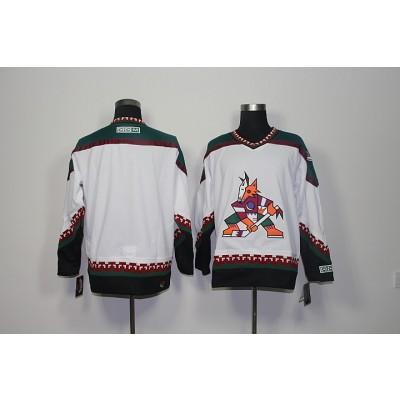 NHL Coyotes Blank White CCM Men Jersey