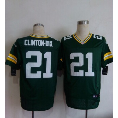 Nike Packers 21 Ha Ha Clinton-Dix Green Men  NFL Elite Jersey
