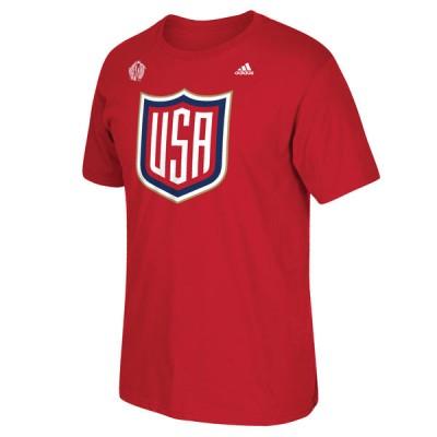 Mens US Hockey Red 2016 World Cup of Hockey T-Shirt