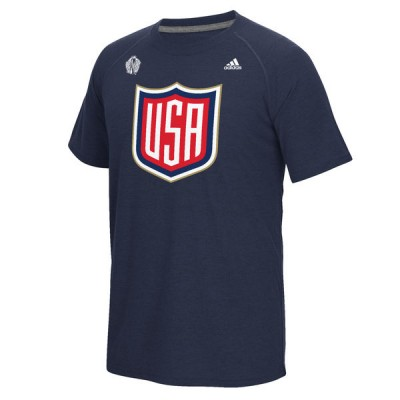 Mens US Hockey Navy 2016 World Cup of Hockey Ultimate climalite T-Shirt