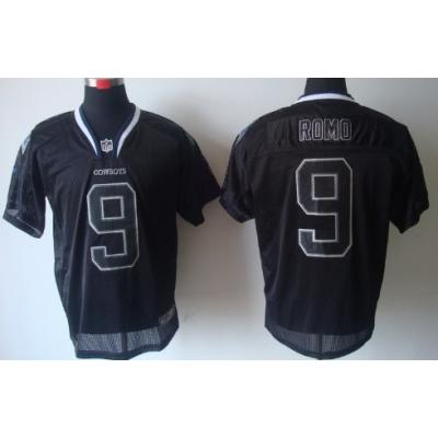 Nike Dallas Cowboys No.9 Tony Romo Lights Out Black Elite NFL Jersey