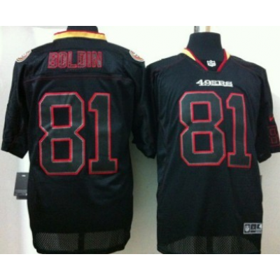 Nike San Francisco 49ers No.81 Anquan Boldin Lights Out Black Embroidered Elite Jersey