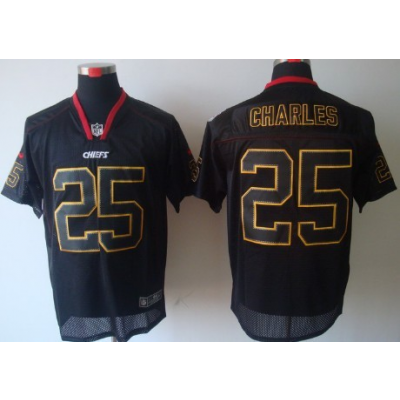Nike Kansas City Chiefs No.25 Jamaal Charles Lights Out Black Elite Stitched Football Jersey