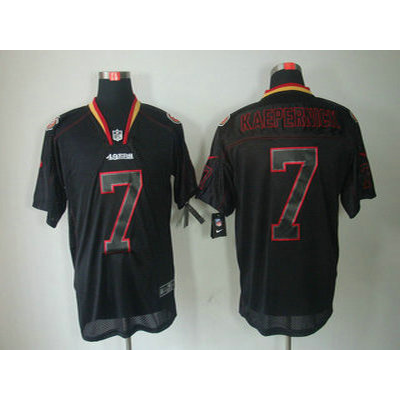Nike San Francisco 49ers No.7 Colin Kaepernick Lights Out Black Men Elite Jersey
