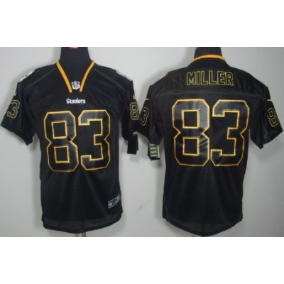 Nike Pittsburgh Steelers No.83 Heath Miller Lights Out Black Embroidered Elite Jersey