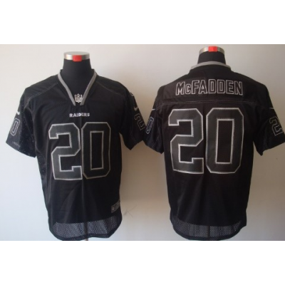 Nike Oakland Raiders No.20 Darren McFadden Lights Out Black Elite Jersey