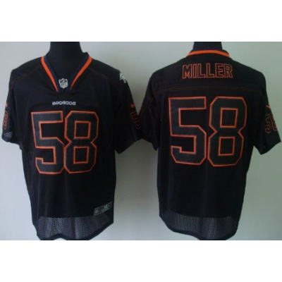 Nike Denver Broncos No.58 Von Miller New Lights Out Black Elite NFL Jersey