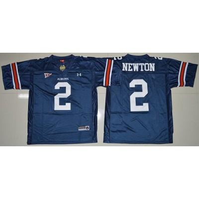 NCAA Auburn Tigers 2 Cameron Newton Blue Men Jersey