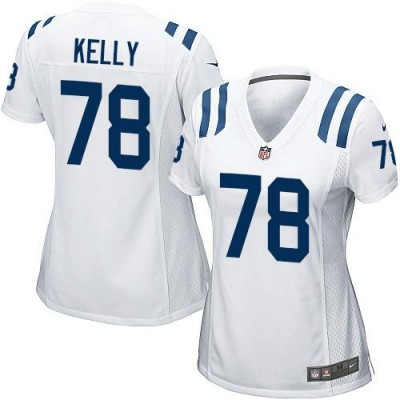Nike Colts 78 Ryan Kelly White Women Stitched NFL Elite Jersey