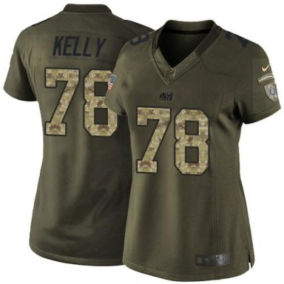 Nike Colts 78 Ryan Kelly Green Women Stitched NFL Limited Salute to Service Jersey