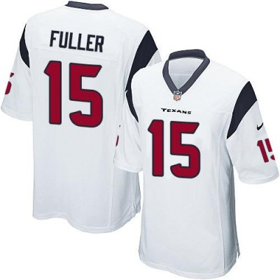 Nike Texans 15 Will Fuller White Youth Stitched NFL Elite Jersey