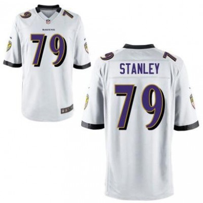 Baltimore Ravens 79 Ronnie Stanley Nike White 2016 NFL Draft Youth Jersey