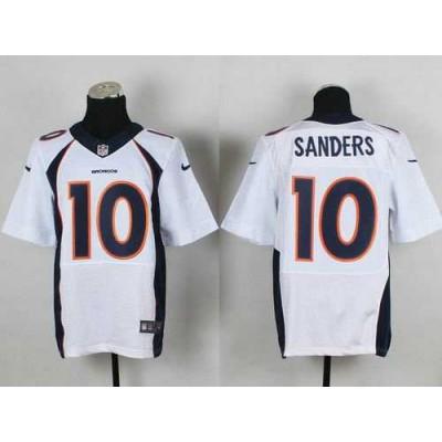 Nike Denver Broncos 10 Emmanuel Sanders White Elite Jersey