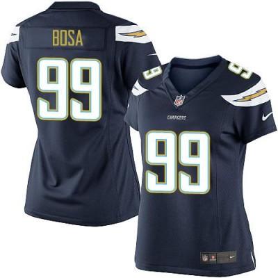 Nike Chargers 99 Joey Bosa Navy Blue Women NFL New Jersey