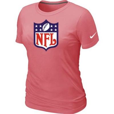 Women Nike NFL Shield Pink Logo T-Shirt
