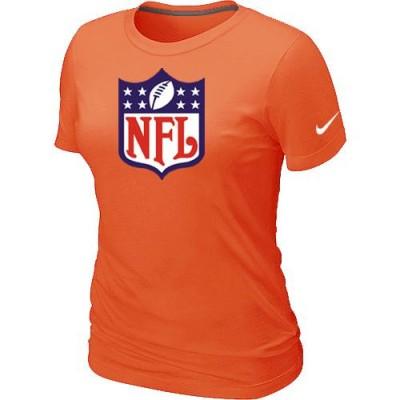 Women Nike NFL Logo NFL T-Shirt Light Orange