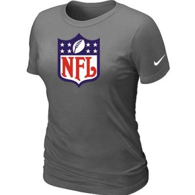Women Nike NFL Logo NFL T-Shirt Light Dark Grey