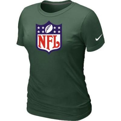 Women Nike NFL Logo NFL T-Shirt Dark Green