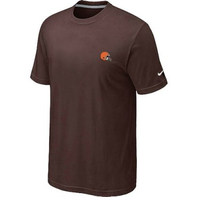 Nike Cleveland Browns Chest Embroidered Logo T-Shirt Brown