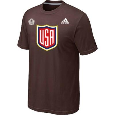Men US Hockey adidas Brown 2016 World Cup of Hockey T-Shirt