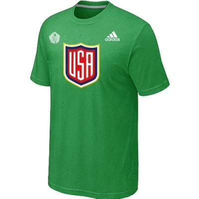 Men US Hockey adidas Apple Green 2016 World Cup of Hockey T-Shirt