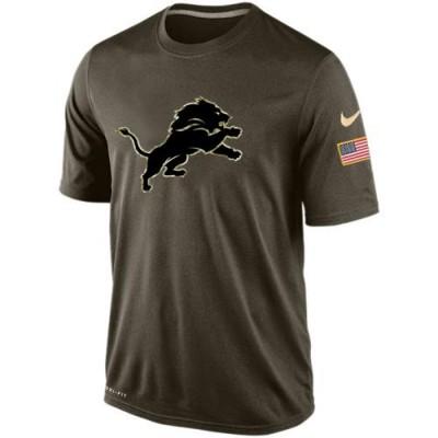 Nike Detroit Lions Salute To Service Green NFL Men Dri-FIT T-Shirt