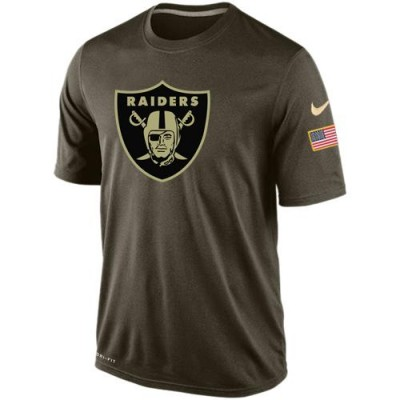 Nike Oakland Raiders Salute To Service Green NFL Men Dri-FIT T-Shirt