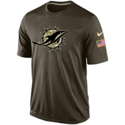 NFL Miami Dolphins Salute To Service Men Nike Dri-FIT T-Shirt